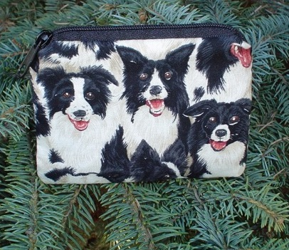 Border collie coin purse