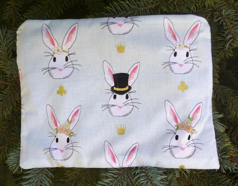 rabbits extra large pencil case or makeup bag