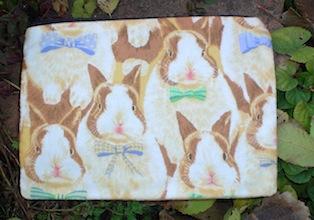 cute rabbits bunnies zippered bag