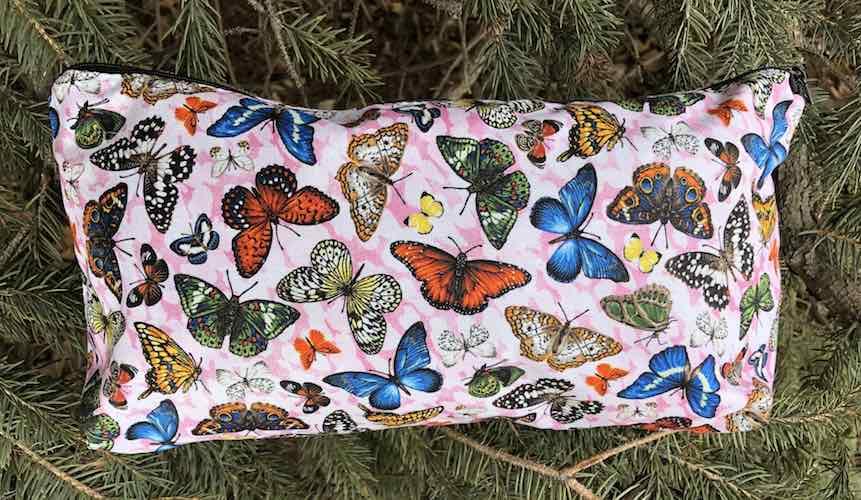 butterflies flat bottom bag for mahjong tiles makeup toiletries knitting and craft supplies