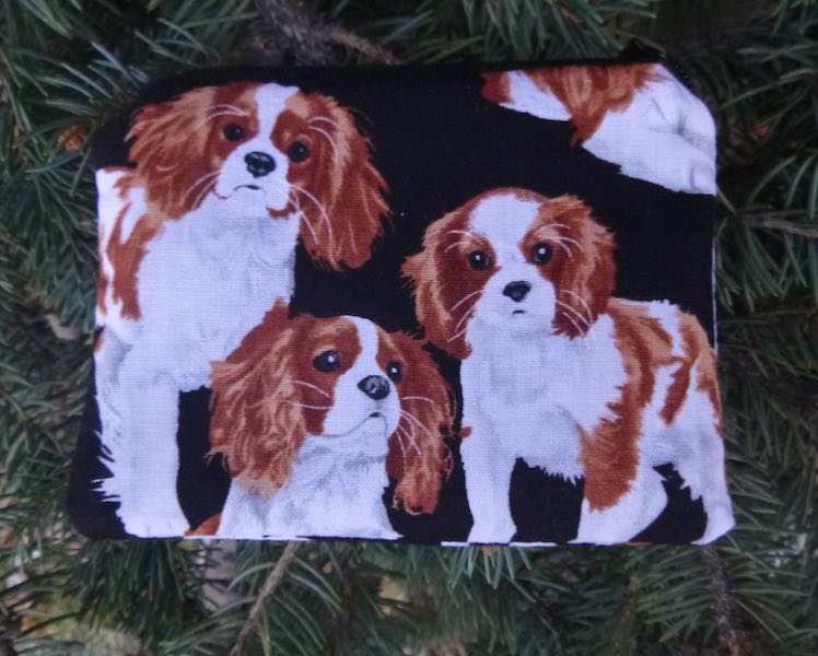 Cavalier King Charles Spaniels coin pouch