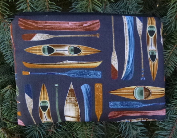 canoes zippered bag