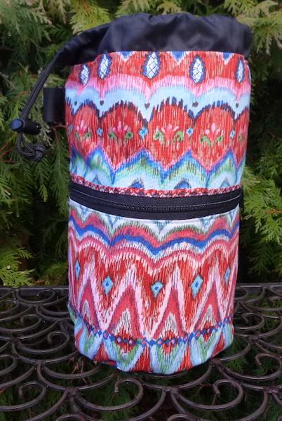 Pretty BoHo knitting project bag