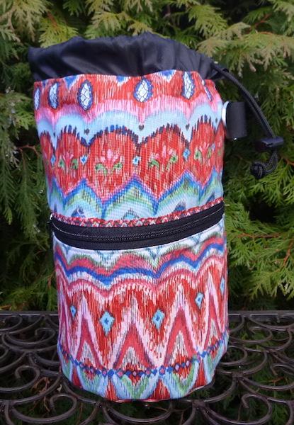 Knitting project bag wiyh pockets