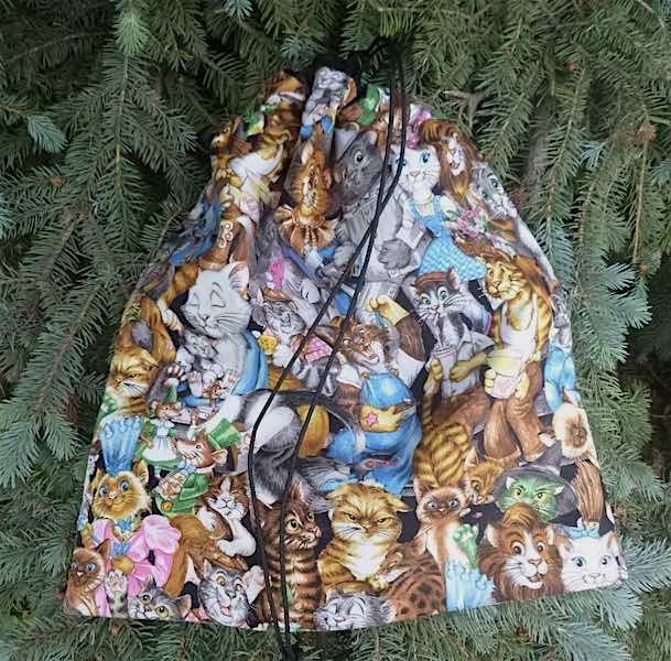 Cat shoe bag, cat lingerie travel bag