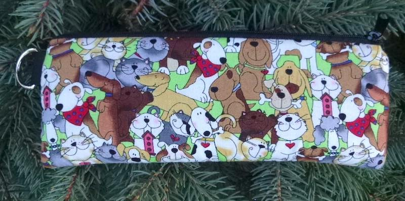 dogs and cats glasses case