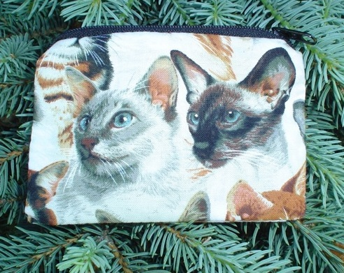 blue eyed cats coin purse