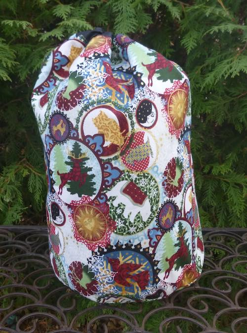 Celestial Winter large drawstring bag