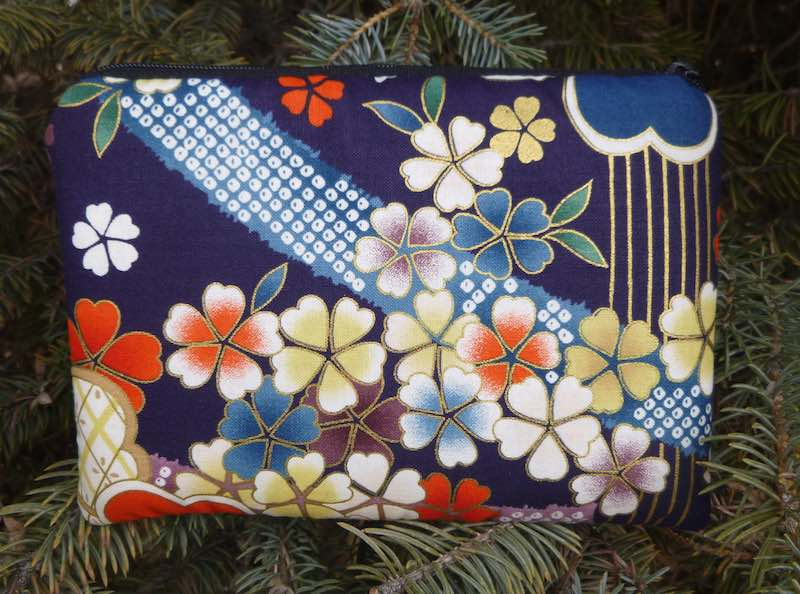cherry blossoms padded case for essential oils