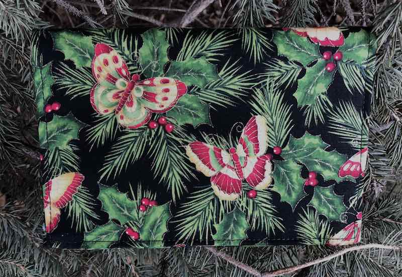 Christmas butterflies wallet on a string
