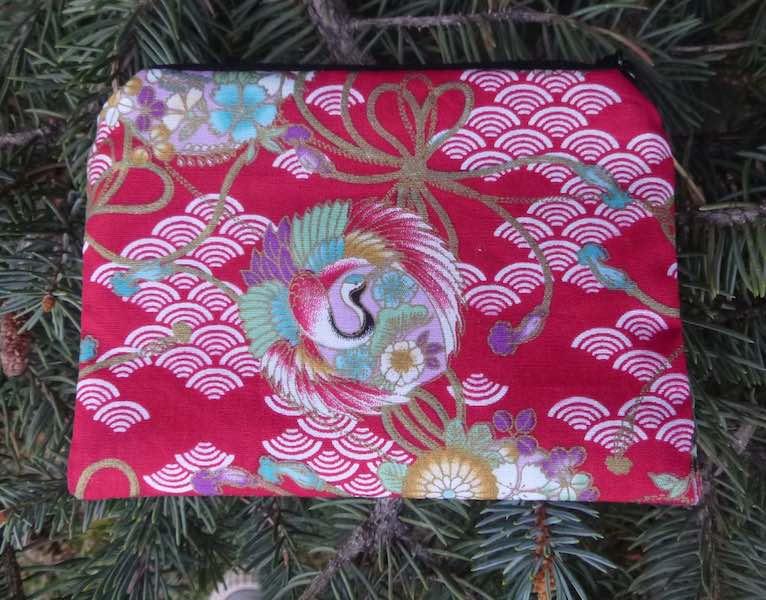 Japanese cranes coin purse