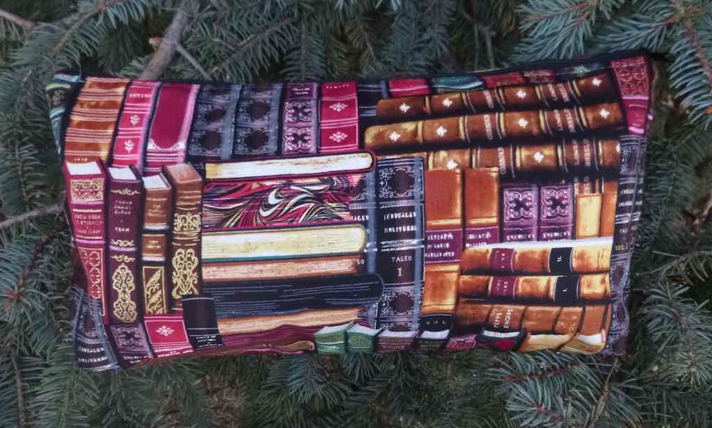 classic books flat bottom bag for mahjong tiles cosmetics toiletries art supplies knitting projects gift for librarian English teacher professor