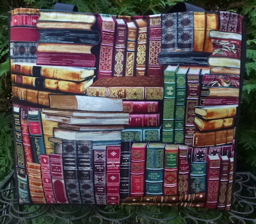 library book bag tote