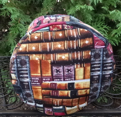 game tile bag with book fabric