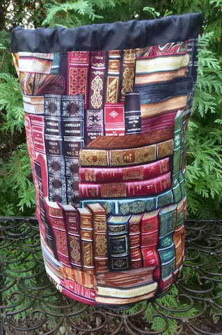 books drawstring bag for knitting