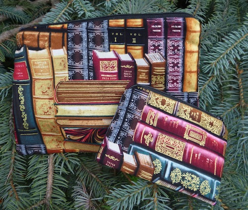 classic books zippered bags
