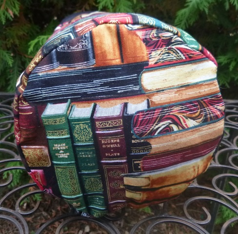 classic books drawstring knitting project bag