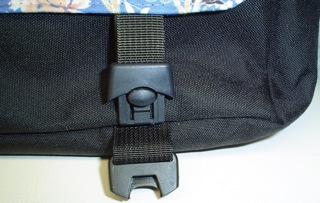 clip on messenger bag flap