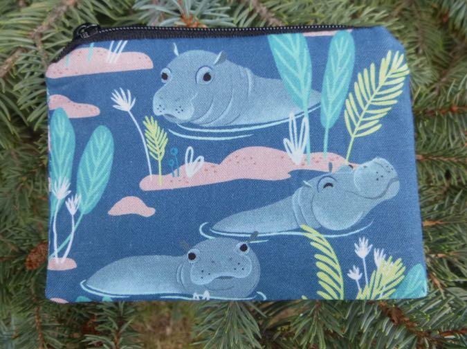 hippos coin purse