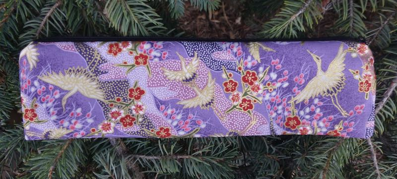 Japanese cranes case for paper or reusable strawz