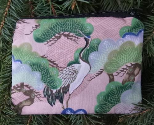 Japanese crane coin purse