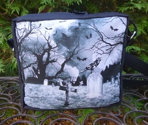 Crow's Graveyard hipster shoulder bag