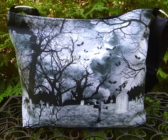 crow and graveyard purse