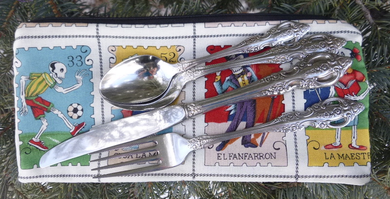 Eco friendly case for reusable cutlery and utensils