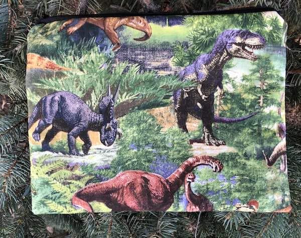 Dinosaurs large pencil case or makeup bag