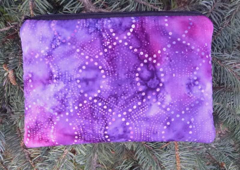 purple batik padded case for essential oils