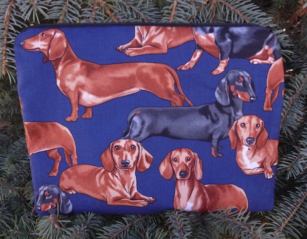 doxie mah jongg card and coin purse