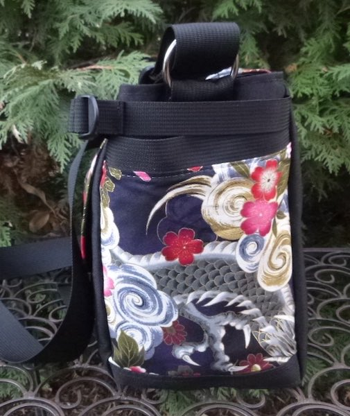 Japanese dragon messenger bag side pocket