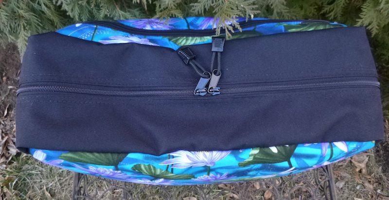 zippered cross body travel bag