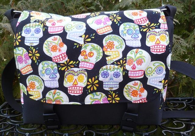sugar skull small messenger bag