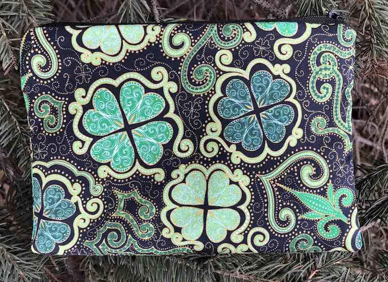 Shamrocks St Patrick's Day Irish makeup accessory bag