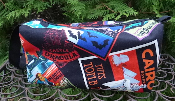 spooky travel toiletry cosmetic case