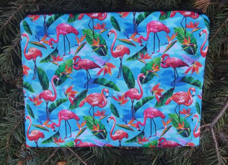 Flamingos Mahjong card and coin pouch