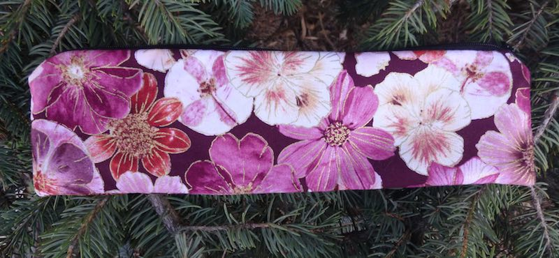 floral pouch for paper or reusable straws