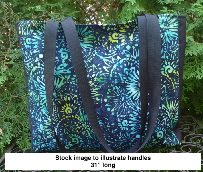 unusual tote bag with long handles
