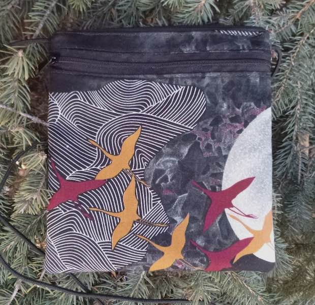 Japanese cranes purse for iPhone smart phone