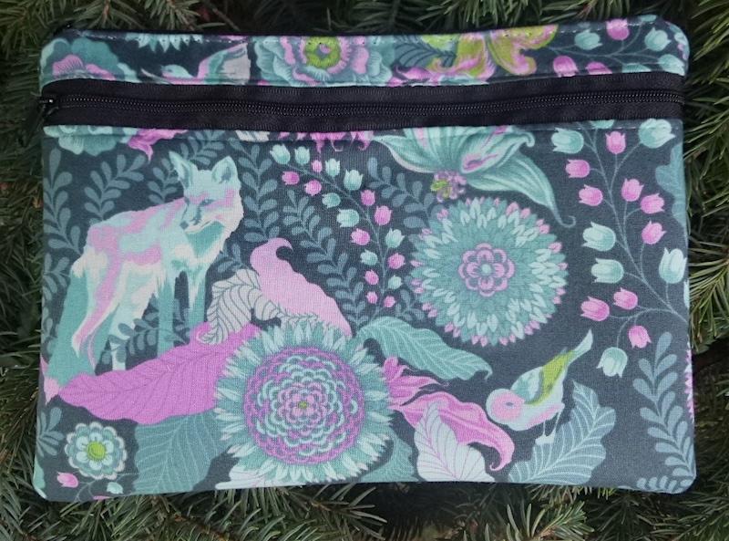 Tula Pink Fox Trot clutch shoulder bag diabetic supply case