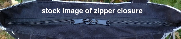 purse with zipper closure