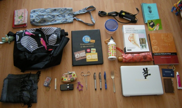 what fits in  a messenger bag
