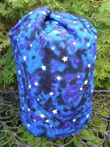 stuff sack with glow in the dark stars