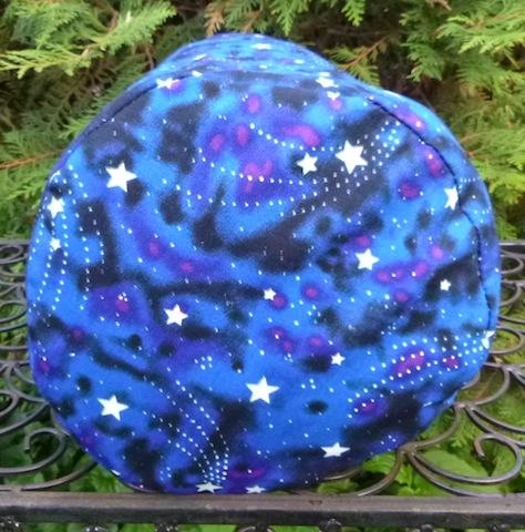 glow in the dark stars round drawstring bag