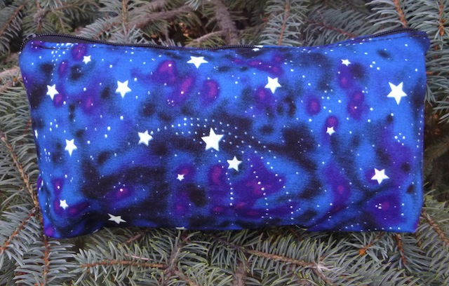 glow in the dark stars flat bottom bag