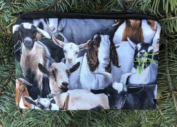goats zippered bag