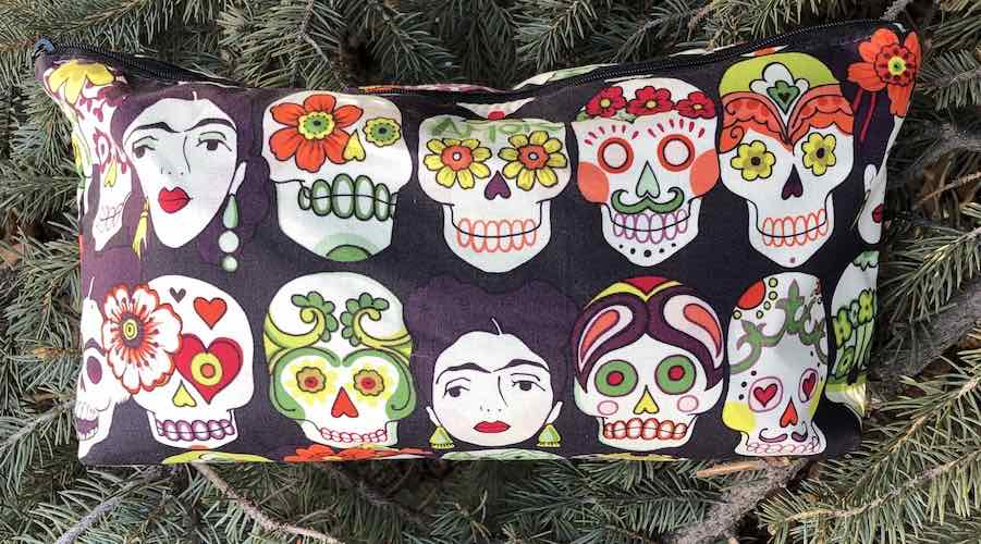 Sugar Skulls Frida Kahlo flat bottom bag Gotas de Amor