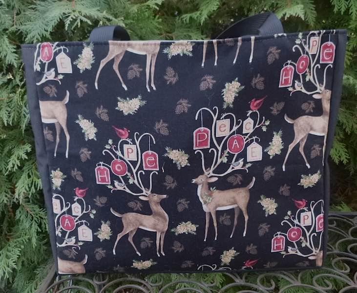 Hope and Peace Christmas tote bag