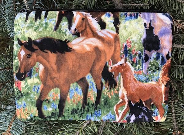 Horses zippered gift bag